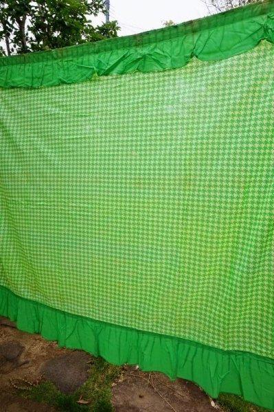 画像1: Wealth ウェルスカーテン グリーン 難あり 200×175 NS256 (1)