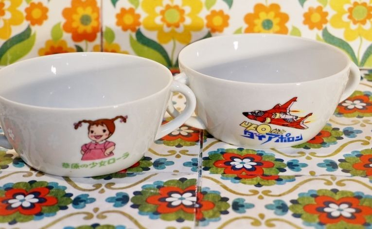 mama スープ皿 2種(草原の少女ローラ・UFO戦士ダイアポロン) S67