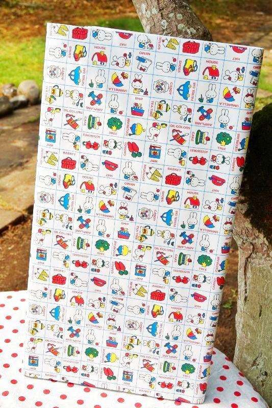 画像4 昭和レトロ包装紙 昔の包装紙 可愛いウサギのキャラクター ミッフィー