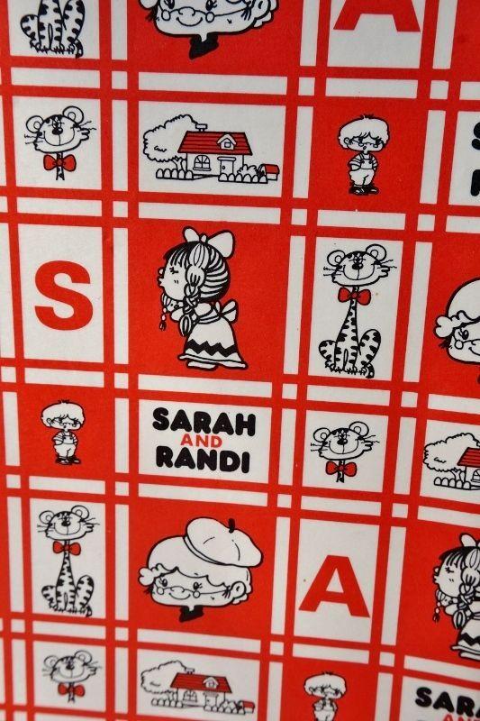 画像1 昭和レトロ包装紙 昔の包装紙 SARAH AND RANDI 可愛いキャラクター